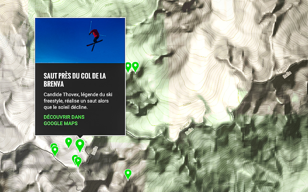 Candide Thovex is now on                 Google Maps