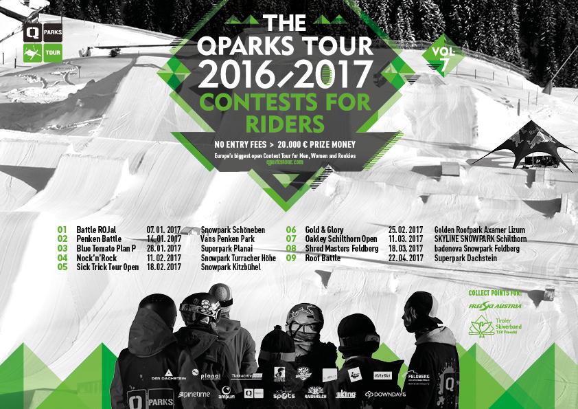Schedule QParks Tour 2016/2017