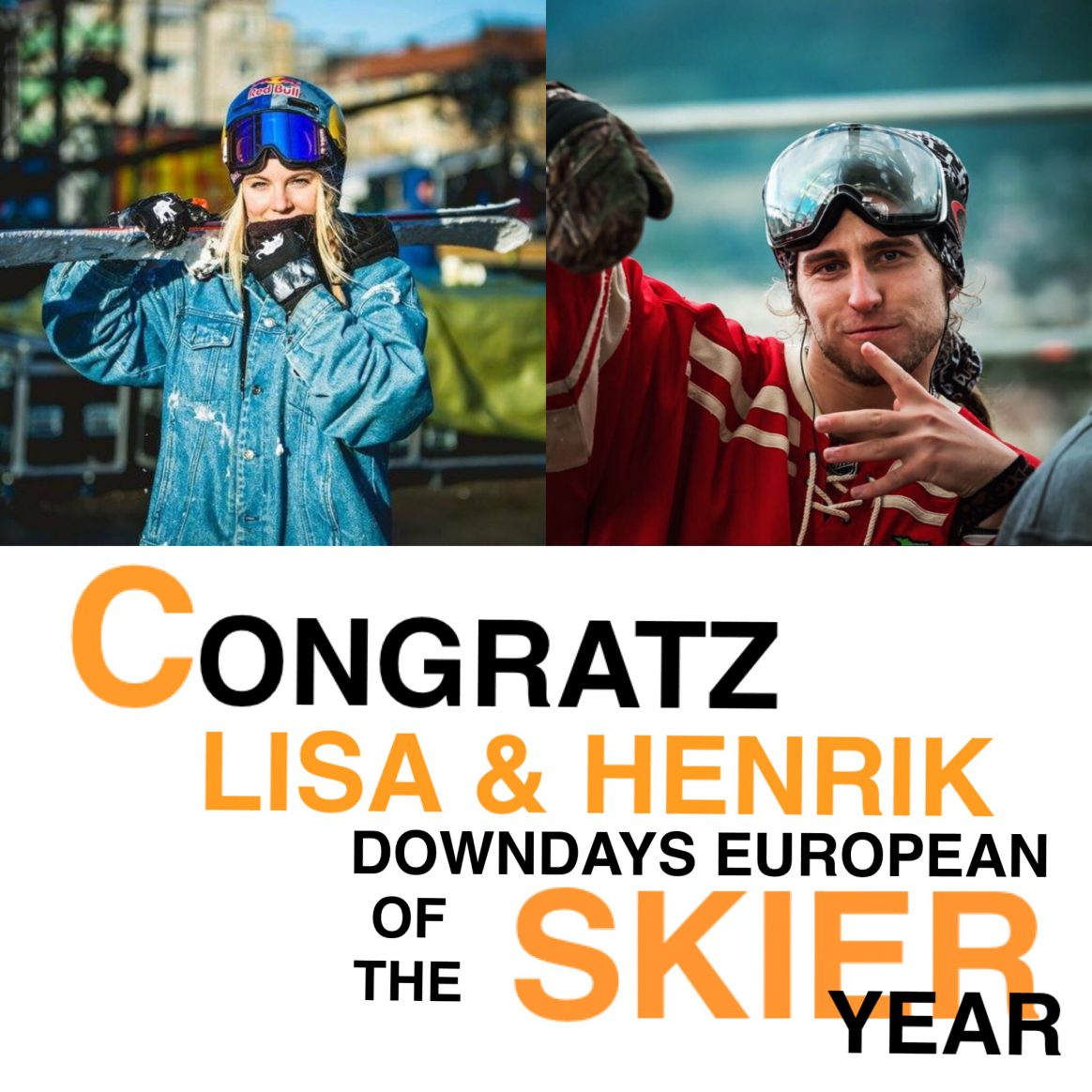 Henrik Harlaut and Lisa Zimmermann are your European Skiers of the Year
