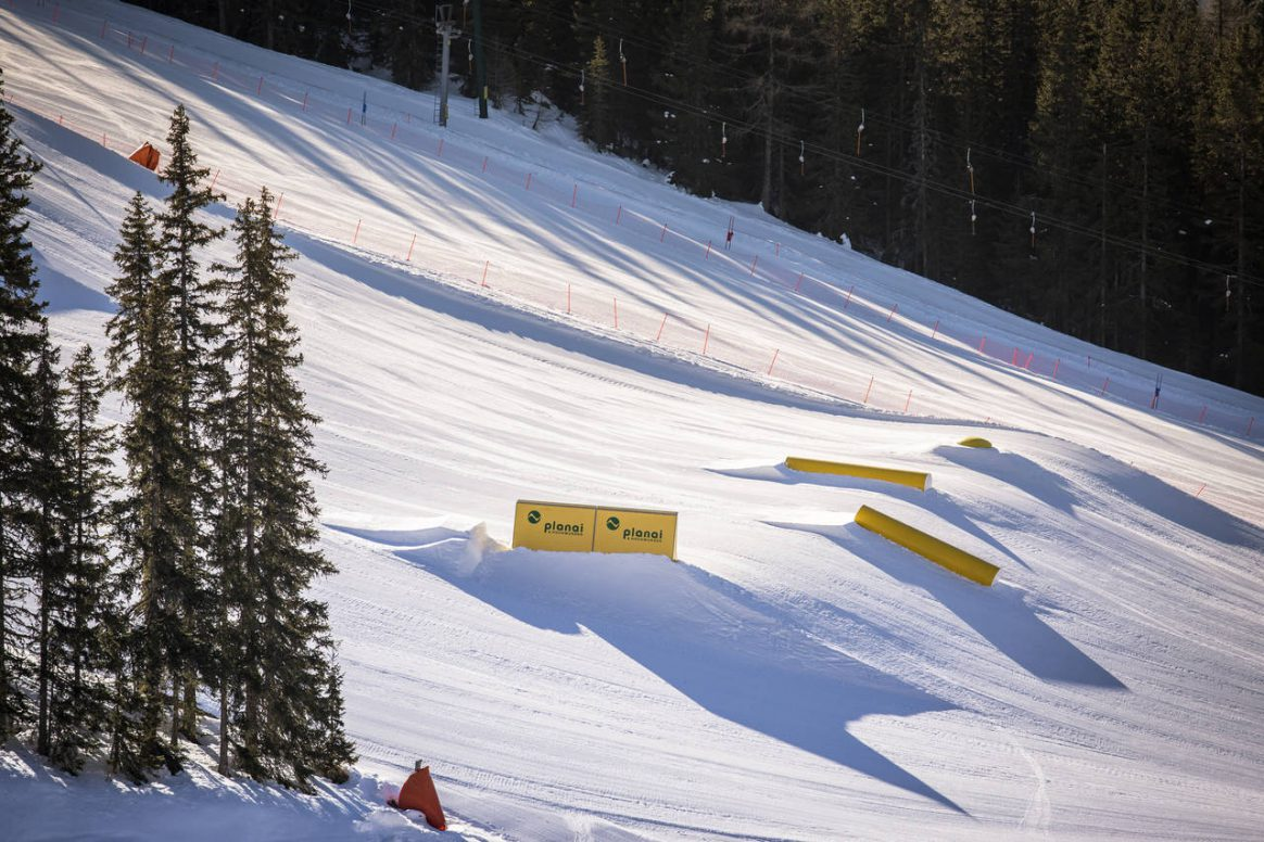 The set up for the PlanP QParks Freeski Tour stop will be on point once again captured by Roland Haschka