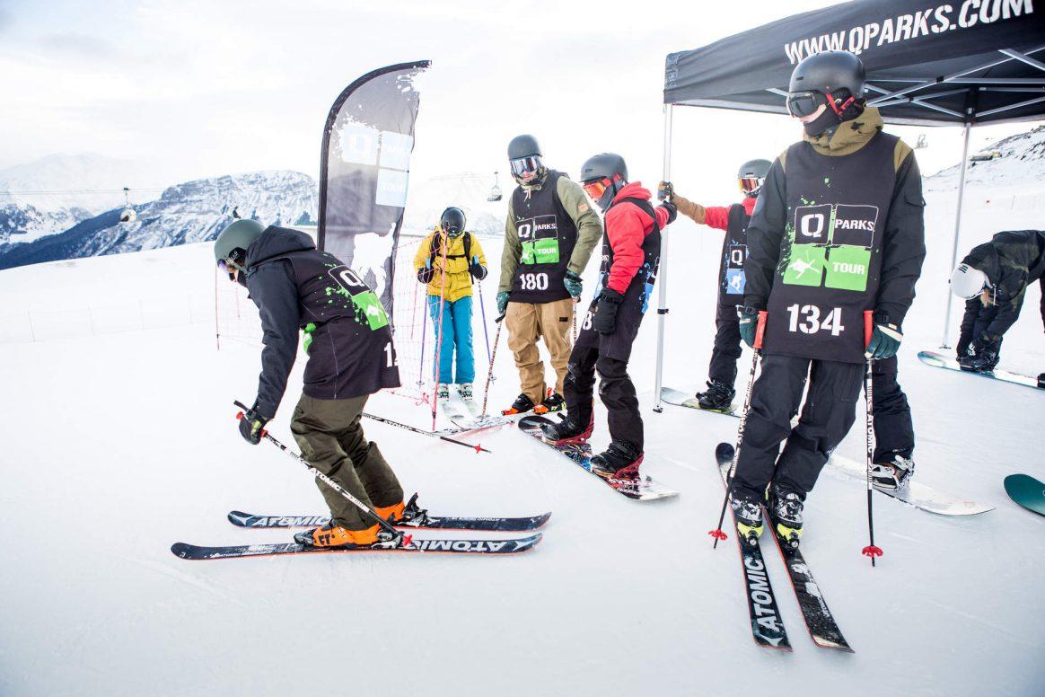 Drop in at the Qparks Freeski Tour Battle Rojal at Snowpark Schöneben 2017 captured by Patrick Steiner