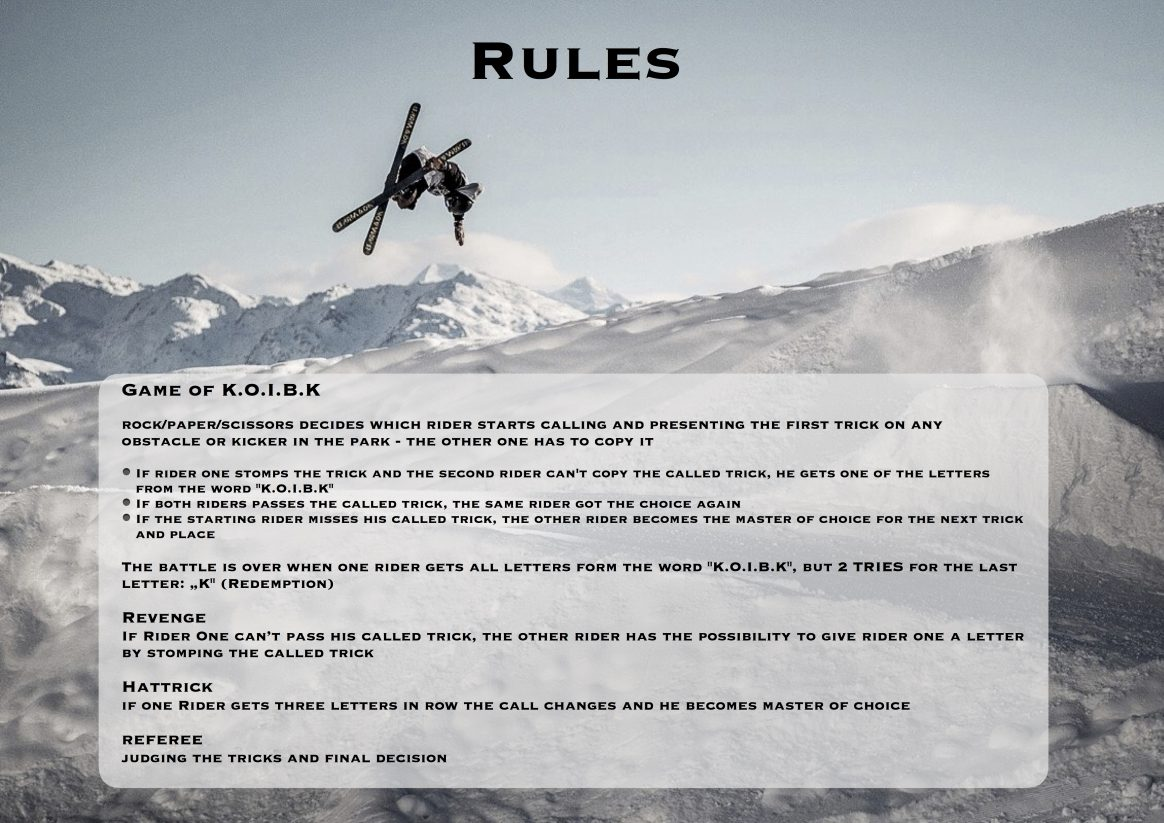 Rules King of Innsbruck