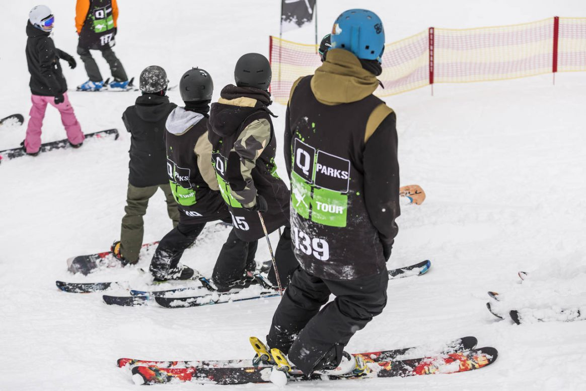 Ready for drop in at the QParks Freeski Tour Sick Trick Tour Open at Snowpark Kitzbühel?