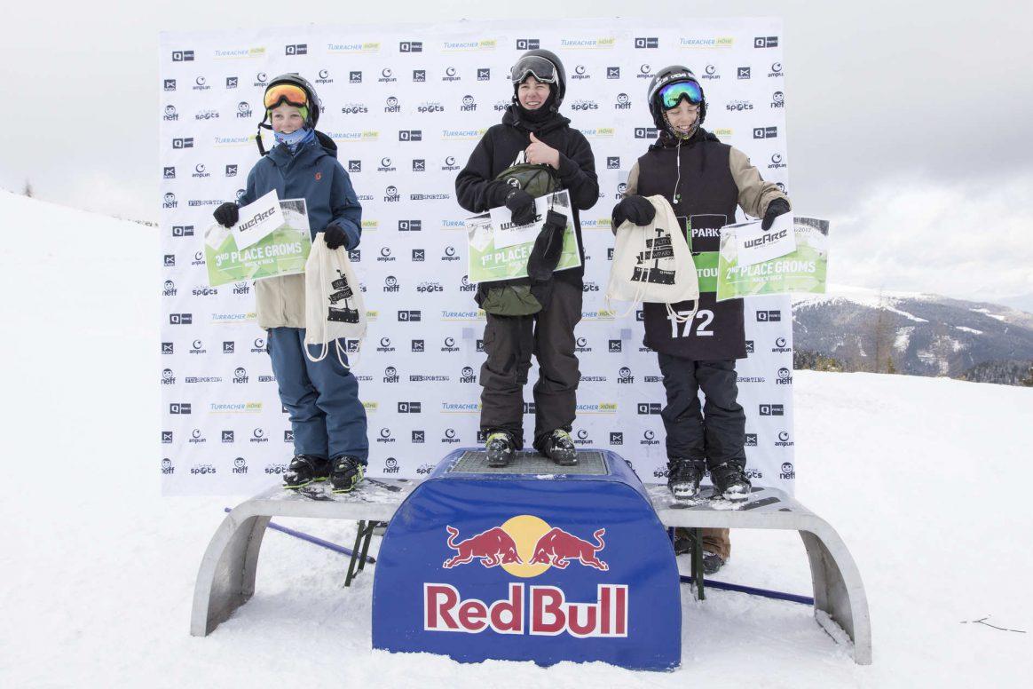 Podium Knock'n'Rock Snowpark Turracherhöhe QParks Freeski Tour Ski Groms Men