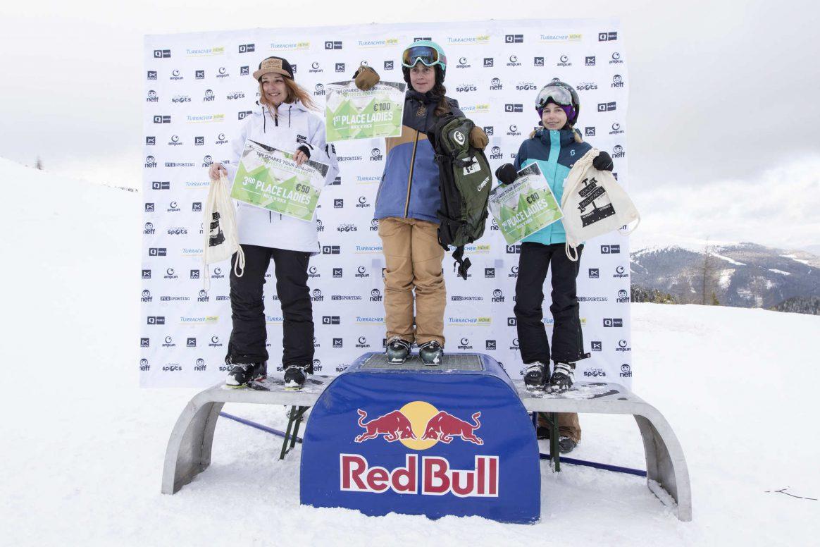 Podium Knock'n'Rock Snowpark Turracherhöhe QParks Freeski Tour Ski Women