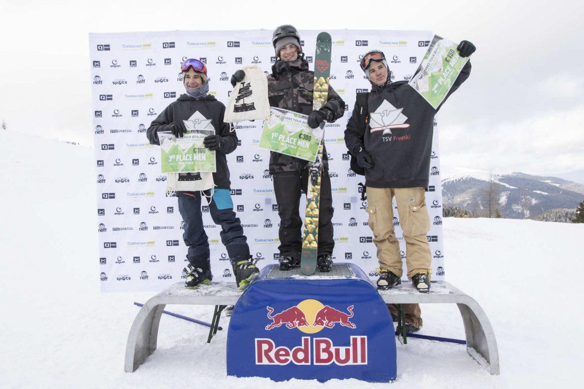 Podium Knock'n'Rock Snowpark Turracherhöhe QParks Freeski Tour Ski Men