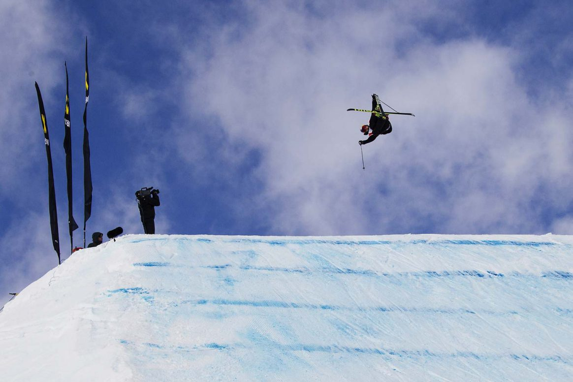 Nick Goepper getting upside down and blunted at the freestyle World Cup St. Moritz
