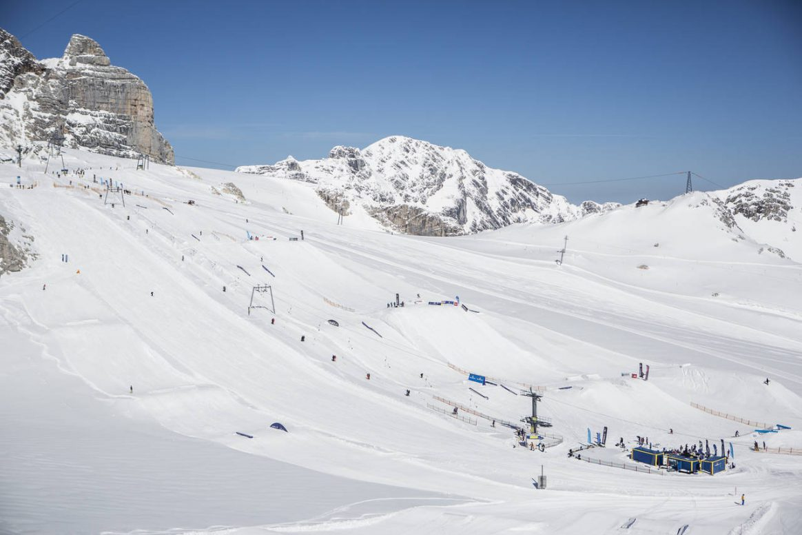 The Dachstein Superpark awaits in all it's glory for the 2017 QParks Freeski Tour final