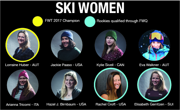 Meet the Women who will compete at the 2018 Freeride World Tour