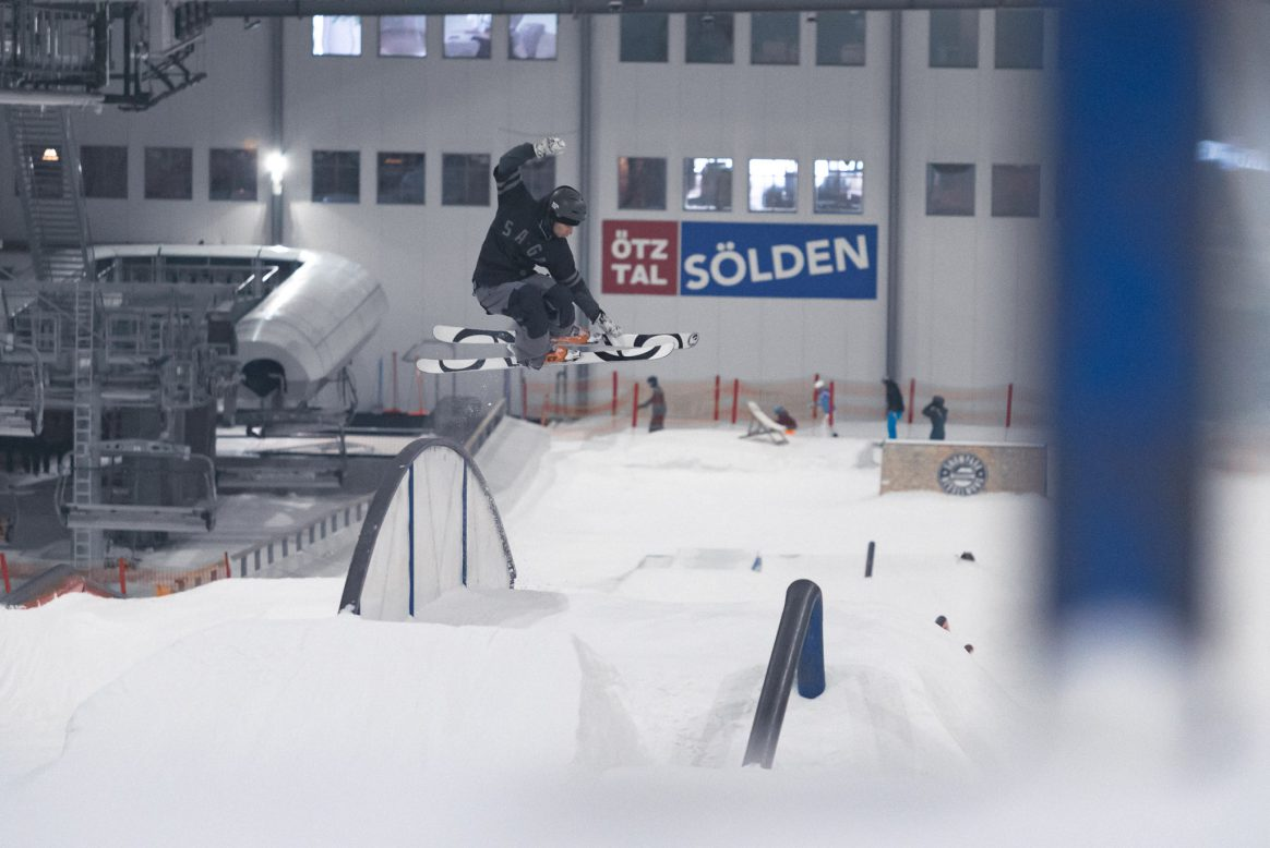 Severin Guggemoos also made the trip up north to Snow Park Bispingen for some cold indoor skiing