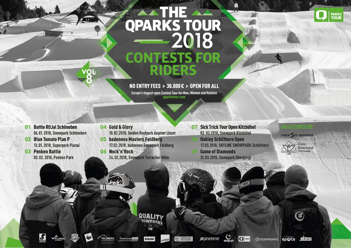 The QParks Freeski Tour is back for the 2018 season. Check all the date right here