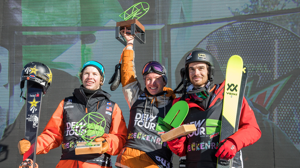 Dew Tour Men's Ski Halfpipe Podium