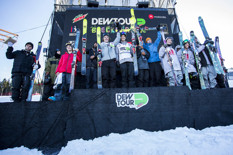 Dew tour Team Challenge Podium