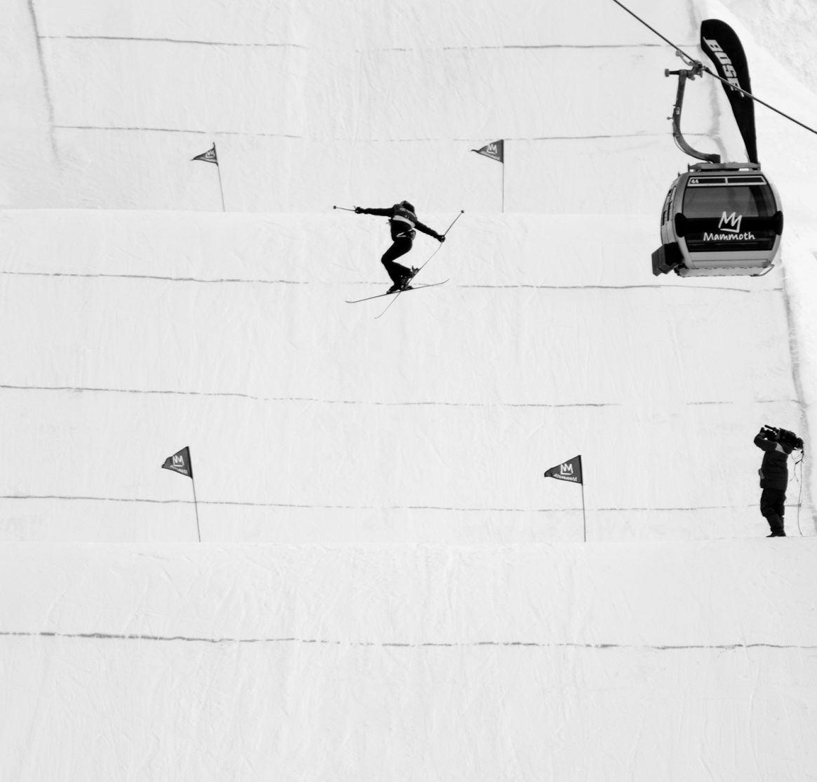 Lisa Zimmermann at Mammoth Mountain by Elmar Bossard