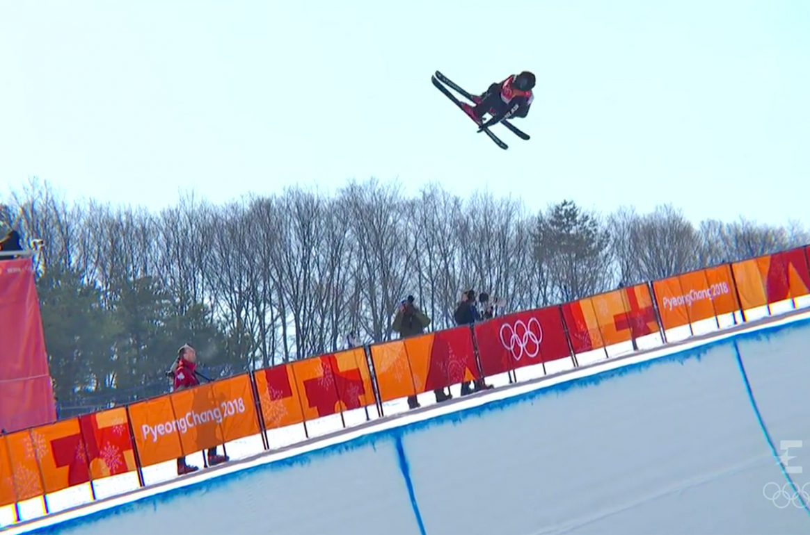 Nico Porteous at Olympic Ski Halfpipe