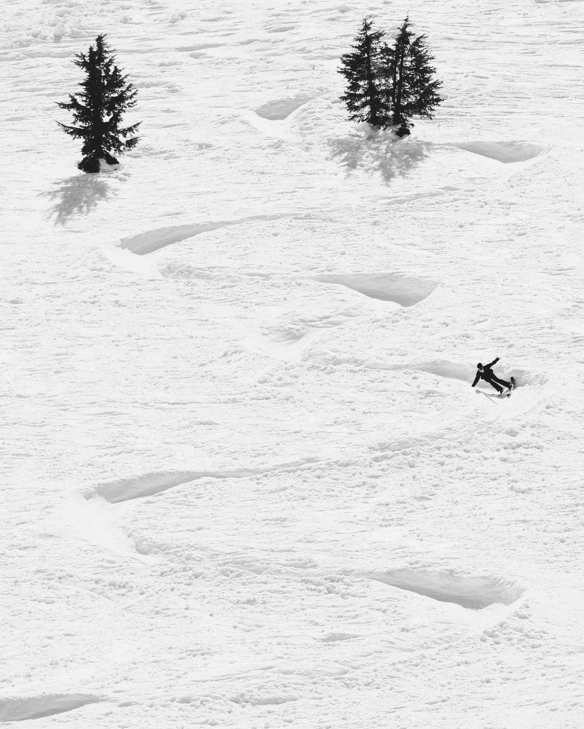 Rosina Friedel, SuperUnknown XV finalist, skis a snake run at Mammoth Mountain.