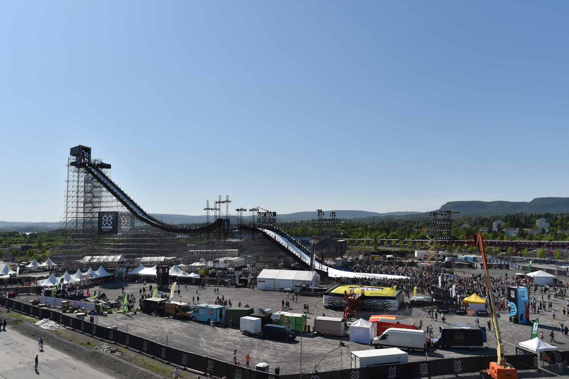 The Big Air ramp at X games Norway in Oslo.