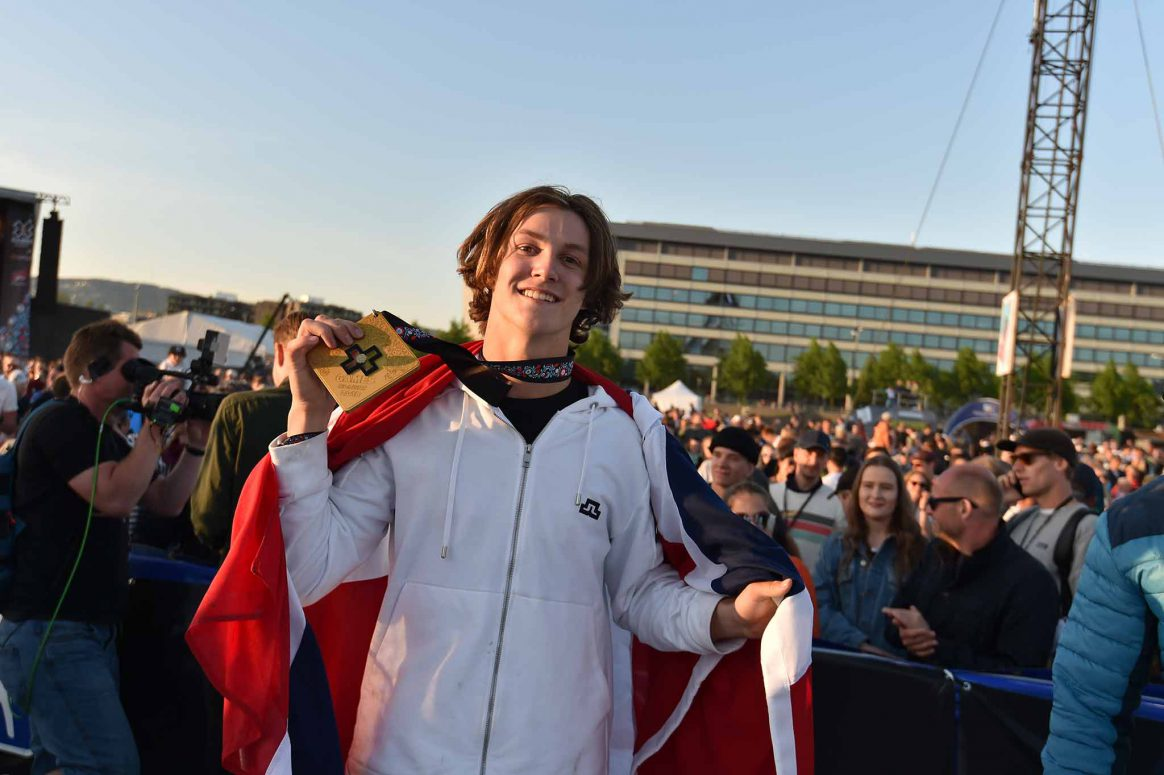 Birk Ruud wins a gold medal at X Games Norway.