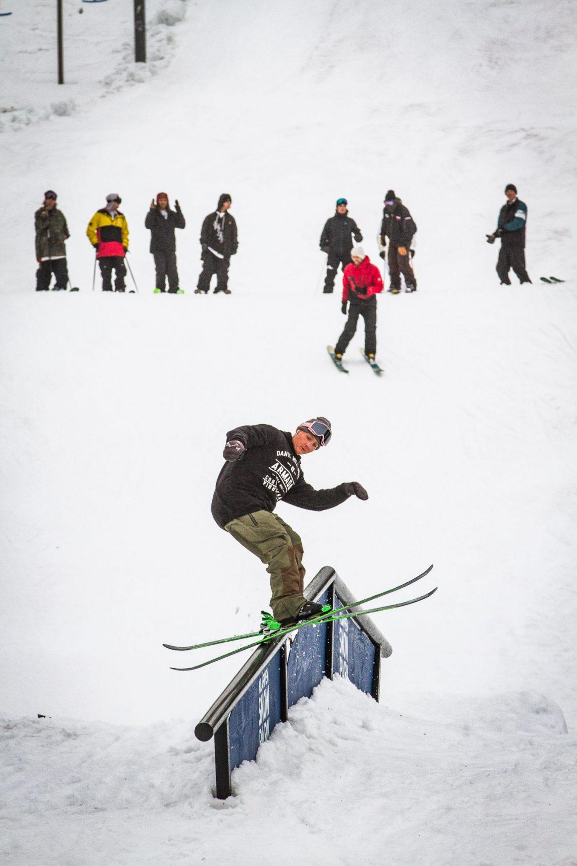 Oliver Karlberg slides a rail on Day 2 at Kimbo Sessions.