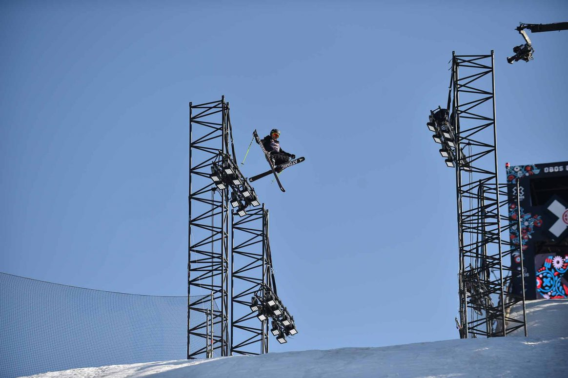 Lara Wolf competes in Womens Ski Big Air at X Games Norway 2018 in Oslo.