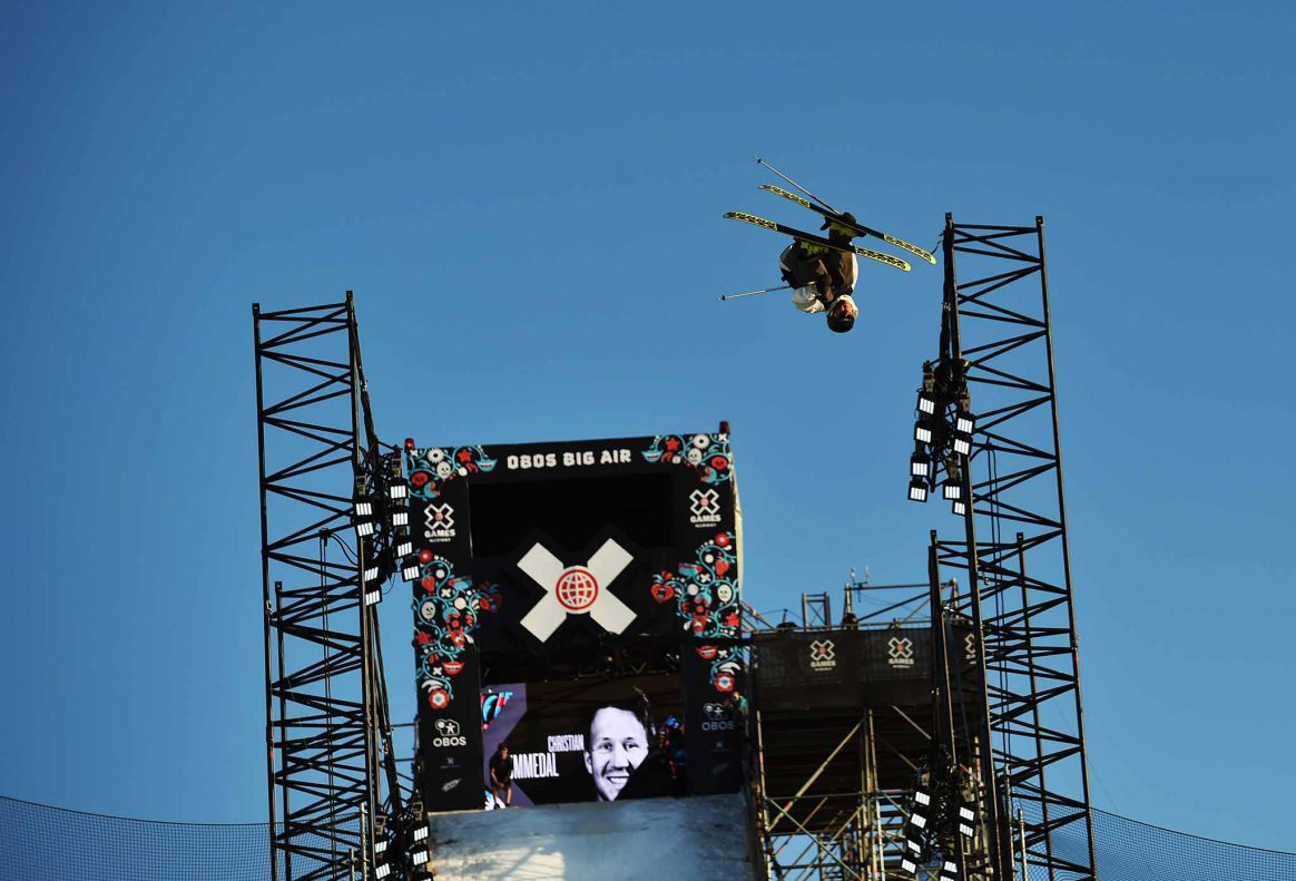 Christian Nummedal goes big at the mens Ski Big Air contest at X Games Norway.