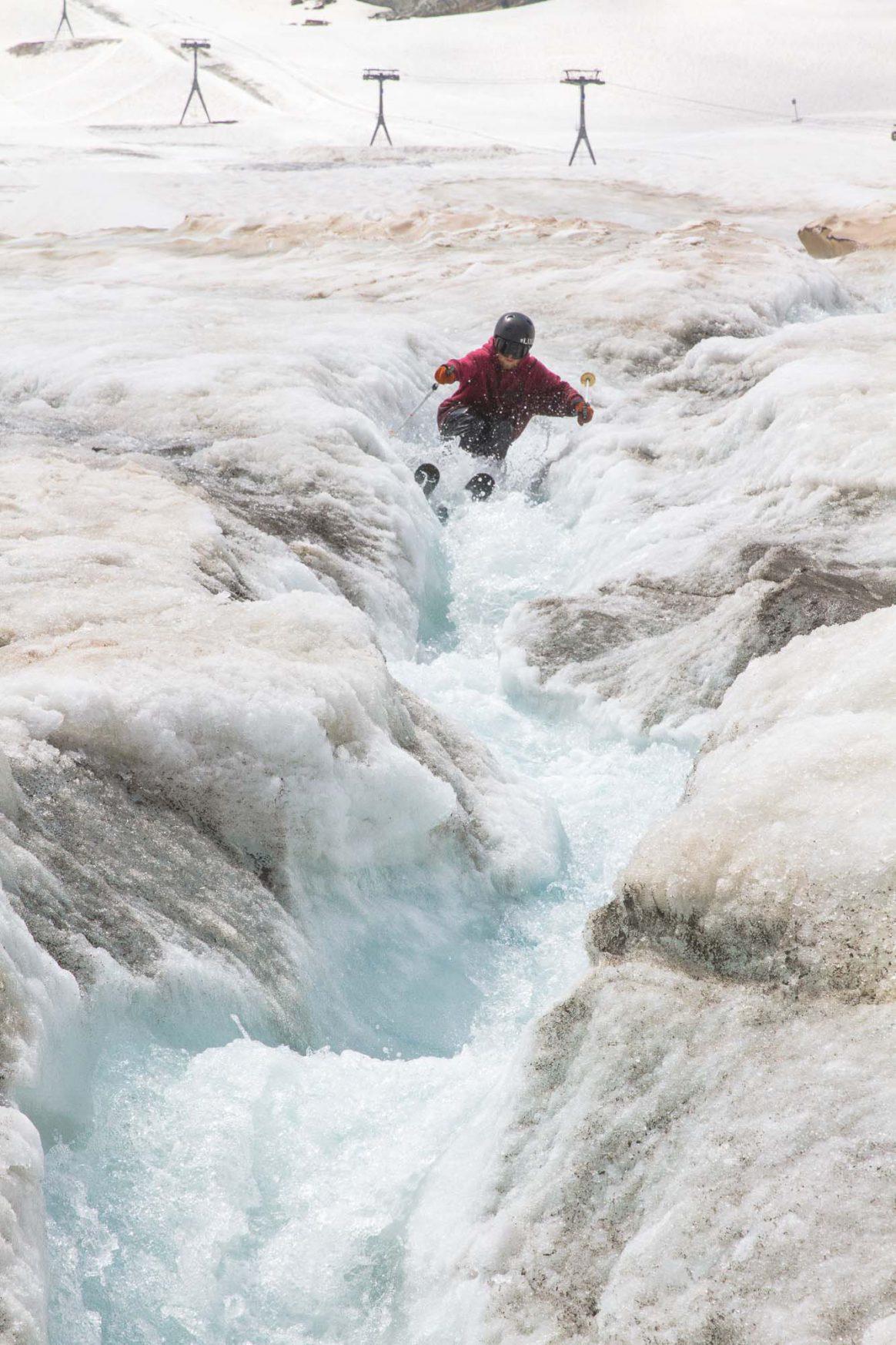 Sämi Ortlieb, waterskiing, Zermatt, Downdays, Ethan Stone