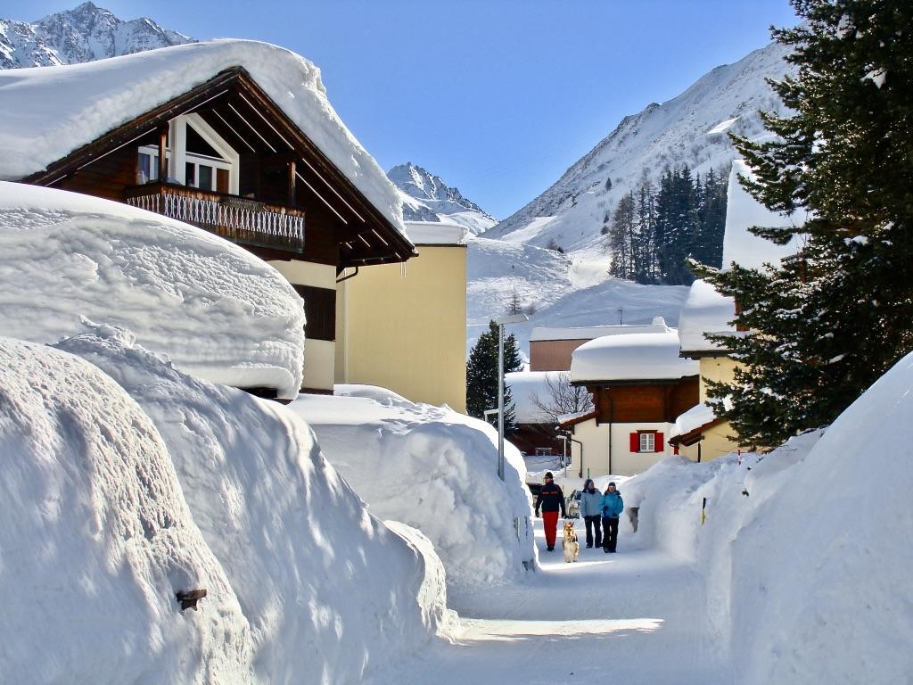 snowy village, Andermatt