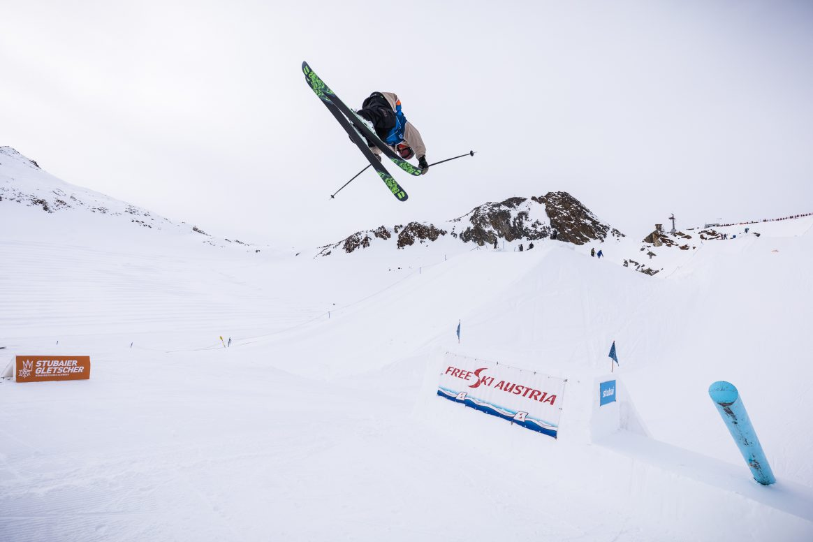 Henrik Harlaut at the 2017 Stubai Freeski World Cup Slopestyle