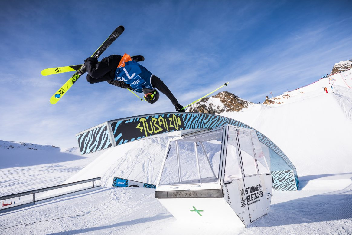 Sam Baumgartner at the Stubai Freeski World Cup Slopestyle 2017
