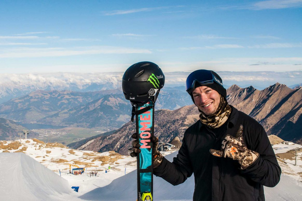 David Wise at the Kitzsteinhorn superpipe in November 2018.