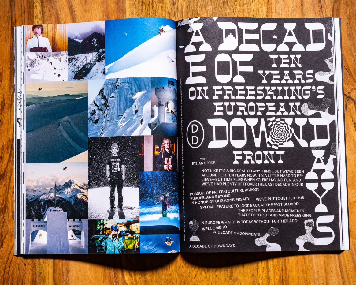 Downdays Winter 2019 magazine 10th anniversary special issue