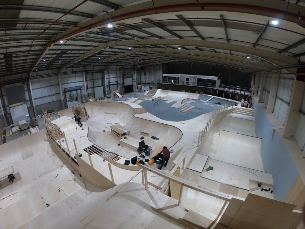 Construction nearing completion on the first Graystone Action Sports Academy in Manchester