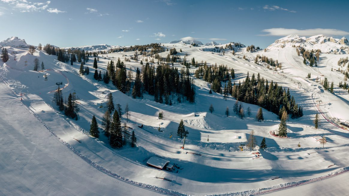 Snowpark Alta Badia, voted one of Europe's top 10 snowparks 2018