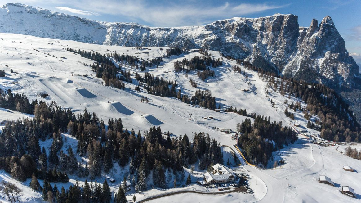 Snowpark Seiser Alm, voted one of Europe's best snowparks in 2018