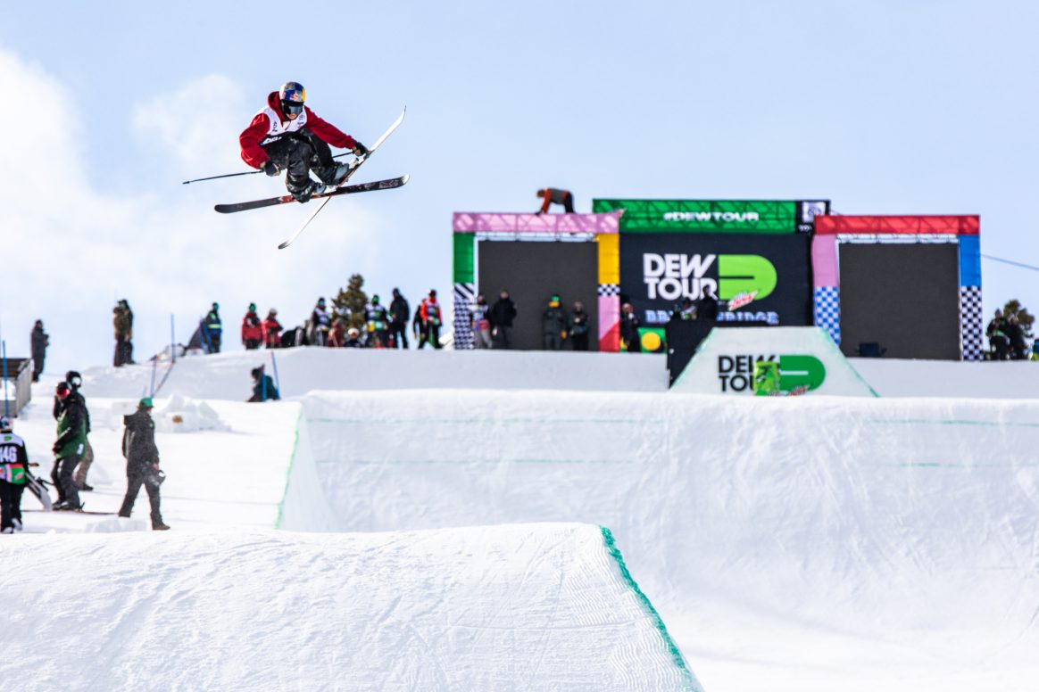 Torin Yater-Wallace practices for the Modified Superpipe event at the 2018 Winter Dew Tour in Breckenridge, Colorado. Photo: Jamie Walter