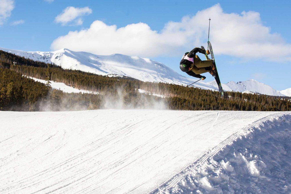 Ferdinand Dahl McRae Williams competes in ski slopestyle at the 2018 Winter Dew Tour in Breckenridge, Colorado