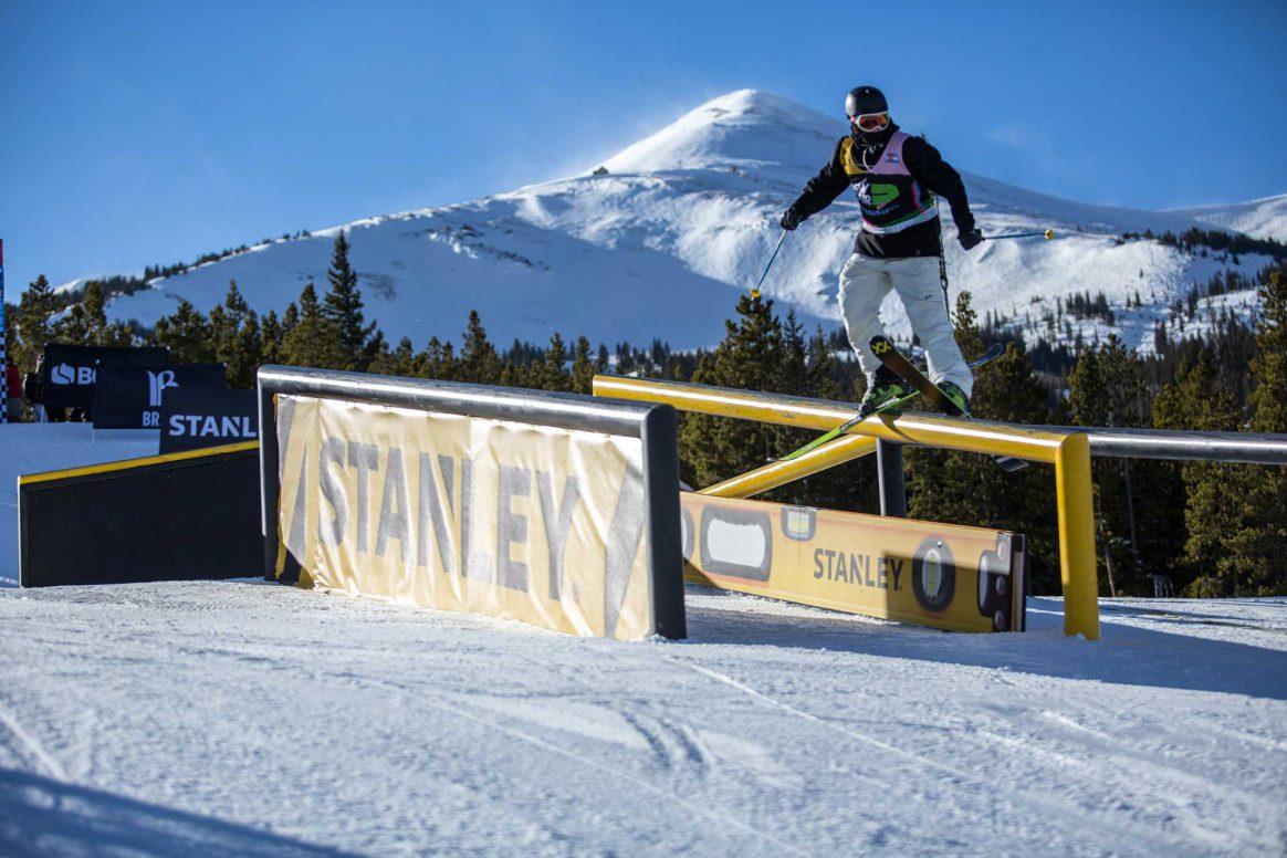Andri Ragettli competes in ski slopestyle at the 2018 Winter Dew Tour in Breckenridge, Colorado