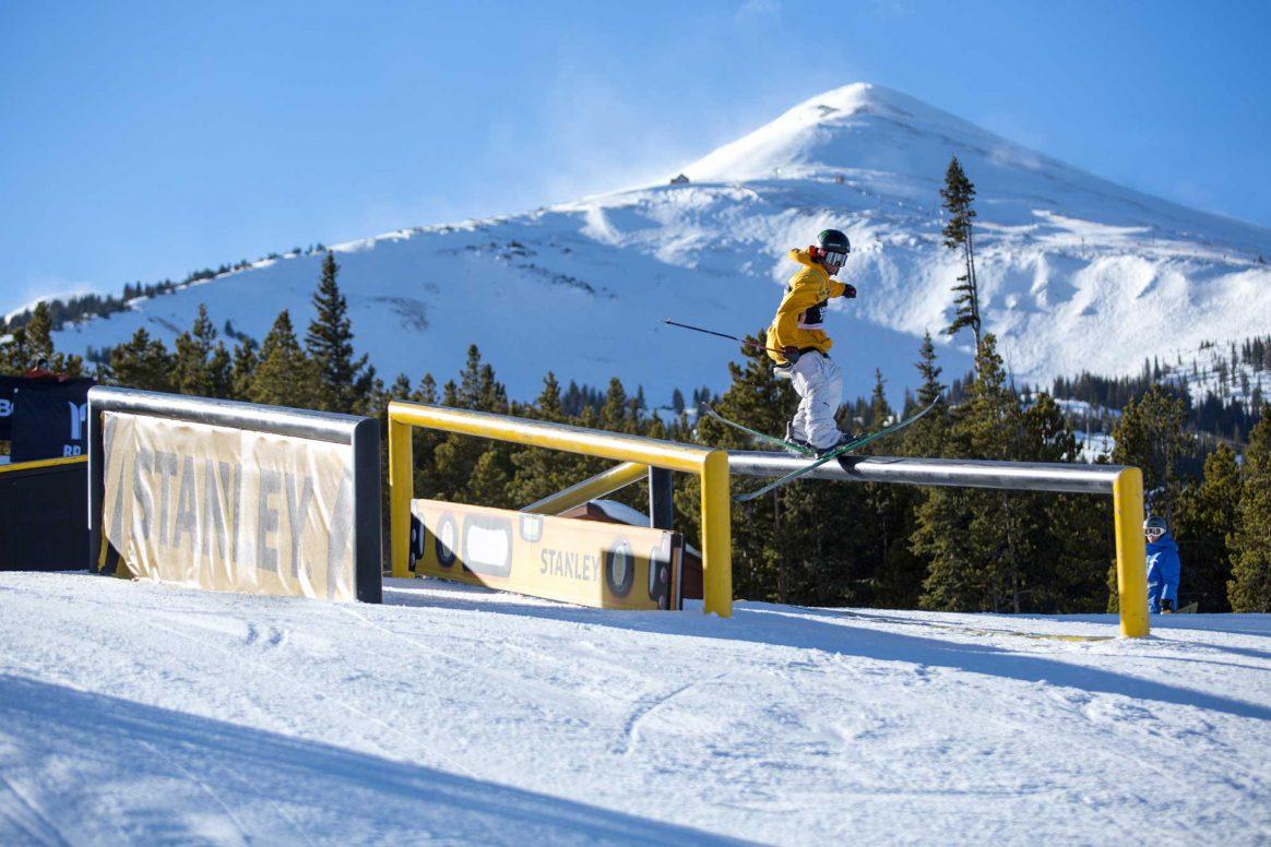 Henrik Harlaut competes in ski slopestyle at the 2018 Winter Dew Tour in Breckenridge, Colorado