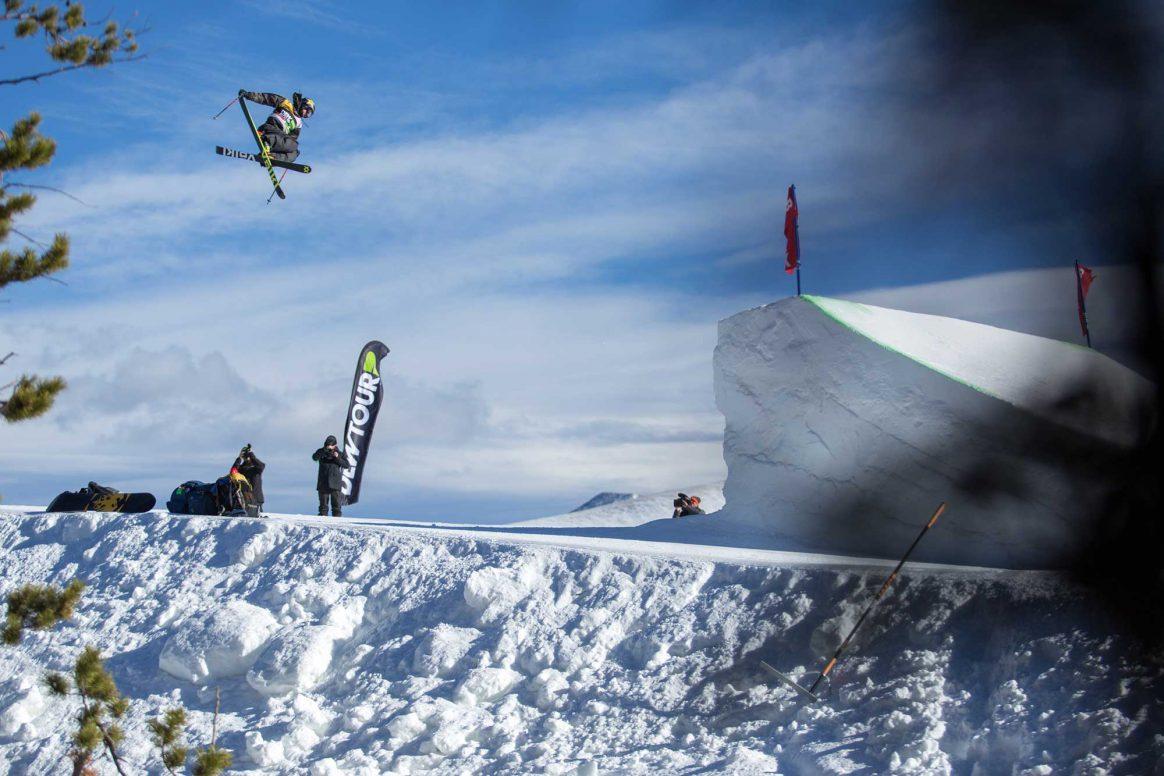 McRae Williams competes in ski slopestyle at the 2018 Winter Dew Tour in Breckenridge, Colorado