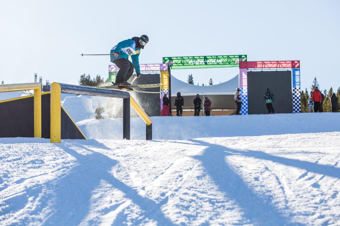 Joss Christensen practices at the 2018 Winter Dew Tour in Breckenridge, Colorado.
