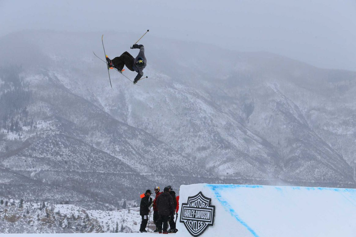 Alex Hall competes in the 2019 Winter X Games Slopestyle in Aspen, Colorado.