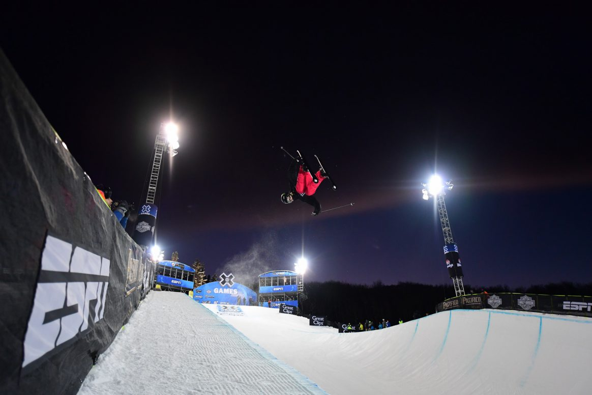 Aspen, CO - January 24, 2019 - Buttermilk Mountain:Ayana Onozuka competing in Women's Ski SuperPipe during X Games Aspen 2019 (Photo by Phil Ellsworth / ESPN Images)  p.p1 {margin: 0.0px 0.0px 0.0px 0.0px; font: 8.5px Helvetica}