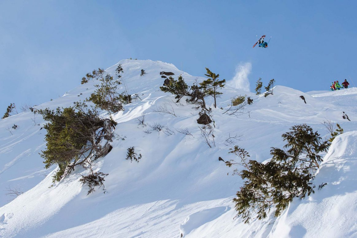 Reine Barkered backflip, Freeride World Tour, Hakuba Japan