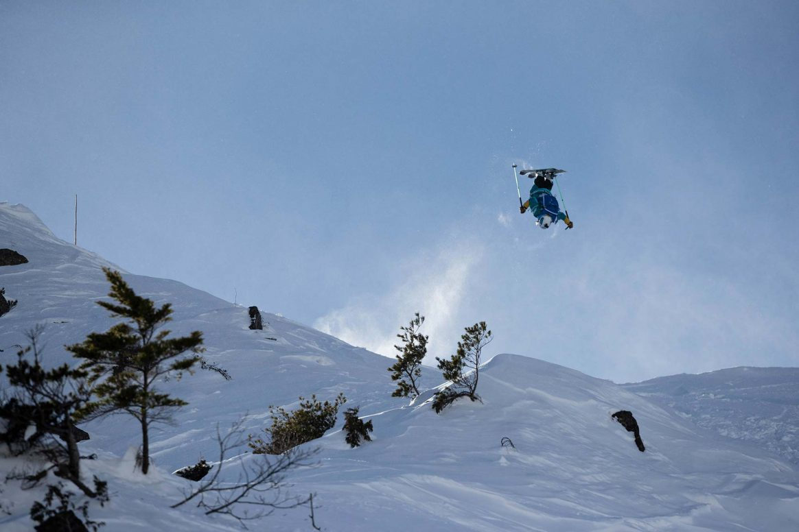 Hedwig Wessel, backflip, Freeride World Tour Hakuba
