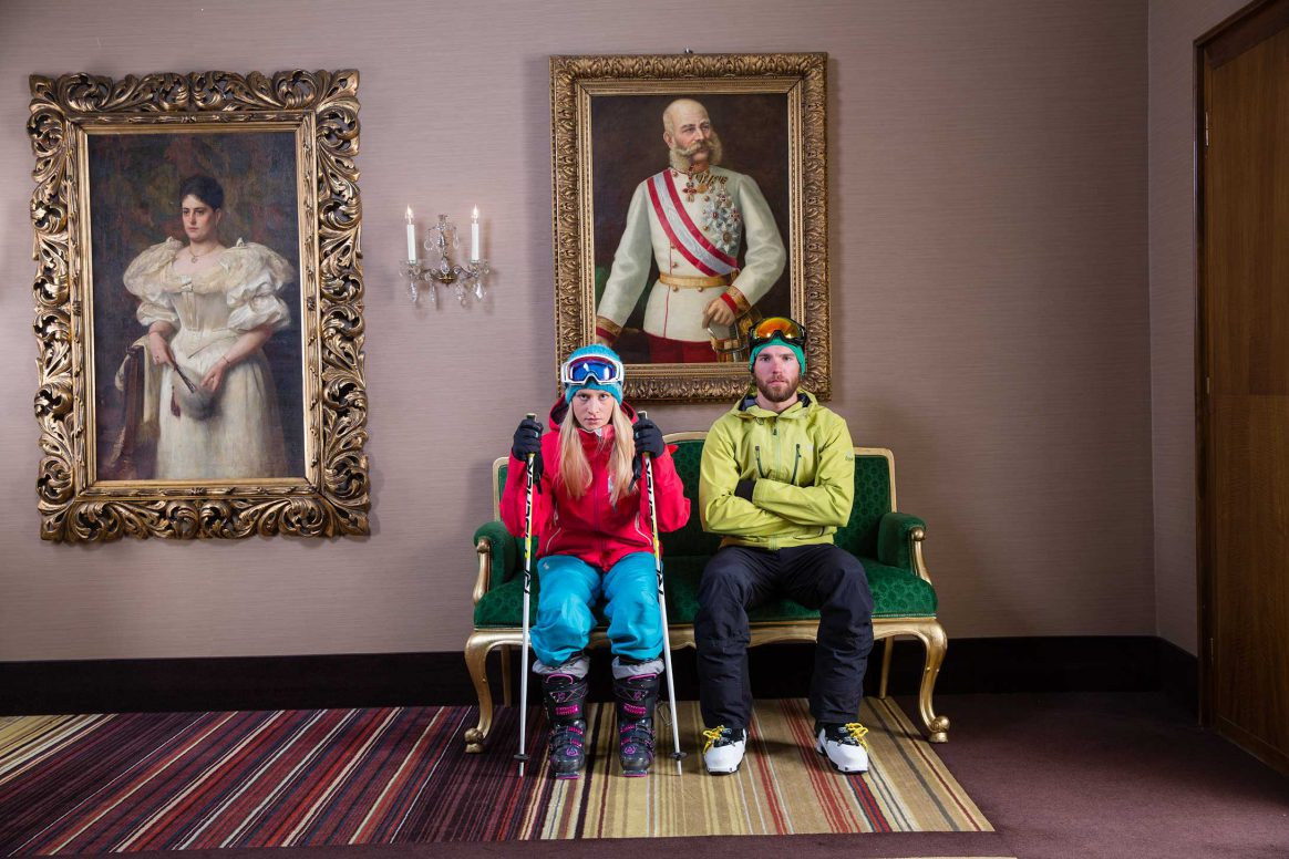 Skiers in Innsbruck Austria