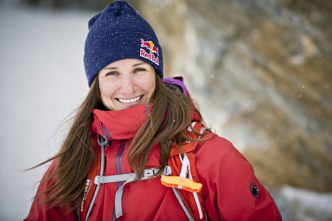 Freerider Nadine Wallner in her home region of Arlberg, Austria. Photo: Mirja Geh/Red Bull Content Pool