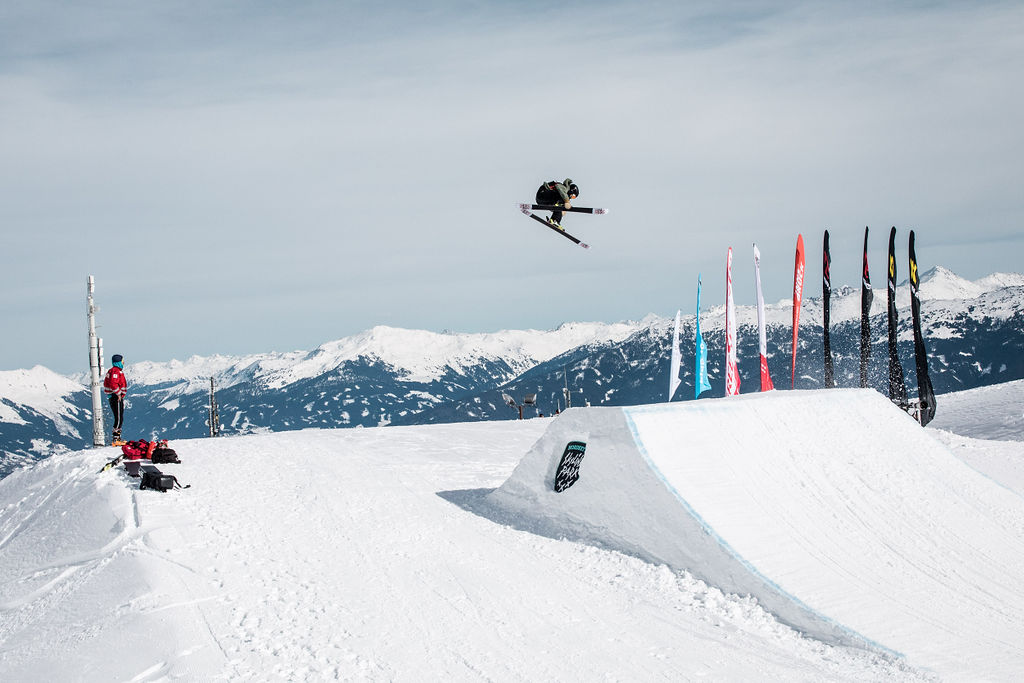 Nalu Nussbaum at the Freeski World Rookie Fest in Innsbruck
