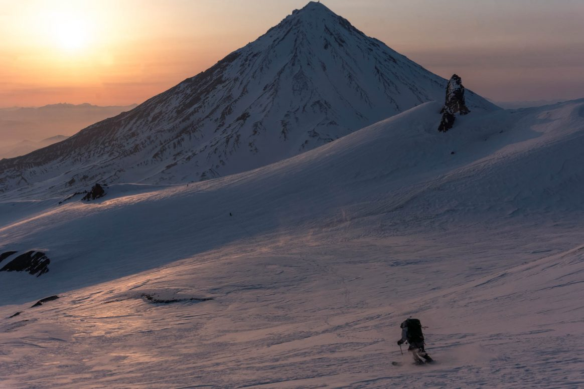 Andrey Shprengler Avachinsky Northwest Face Kamchatka freeride Photo Drew Herder